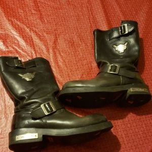 Harley davidson motorcycle boots leather Size 10